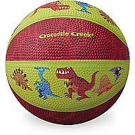 Crocodile Creek Dinosaurs Lime Green/Red Kid-sized Basketball 5.5 inches