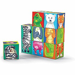Crocodile Creek Make-A-Critter Blocks Zoo Animal Mix and Match Block Stacking Sets, 2.5""