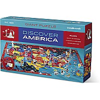 Crocodile Creek Discover America Learn + Play 100 piece Jigsaw Floor Puzzle and 21 Figures, 36""