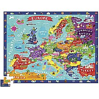 100 pc. Discover Europe Learn + Play Jigsaw Floor Puzzle