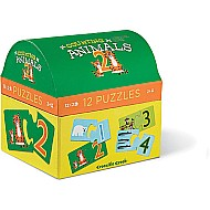 Counting Animals 2-Piece Puzzle Animal Sets