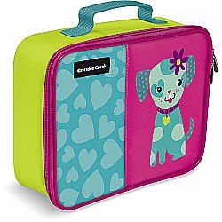 "Crocodile Creek Eco Kids Puppy Insulated Girls' Lunchbox 10"" with handle"