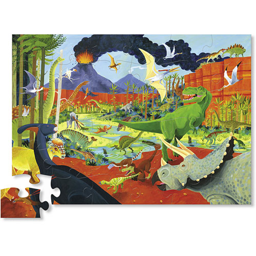 Dinosaurs Mdf Toy Box Childrens Storage Toys Games Books: Crocodile Creek Land Of Dinosaurs 36 Piece Jigsaw Floor