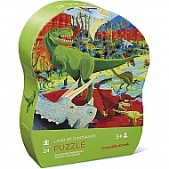 Crocodile Creek Land of Dinosaurs 24 Piece Jigsaw Puzzle