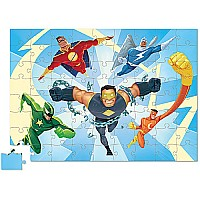 72 pc Learn 'n Play Puzzle - Superheroes