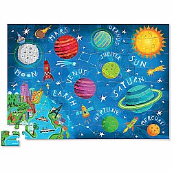 "Crocodile Creek Space Exploration 72 piece Junior Jigsaw Puzzle 14"" x 19"""