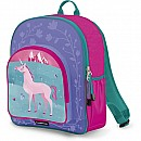 Crocodile Creek Eco Kids Unicorn Pink Girls School Backpack 14""