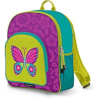 Crocodile Creek Eco Kids Purple Butterfly Girls School Backpack 14""