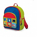 Crocodile Creek Eco Kids Blue Vehicle Kids School Backpack 14""