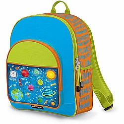 Crocodile Creek Eco Kids Blue Solar System Kids School Backpack 14""