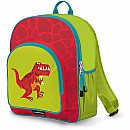 Crocodile Creek Eco Kids Red Dinosaur T- Rex Kids School Backpack 14""