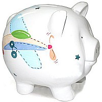 Child to Cherish Piggy Bank, Airplane, Large