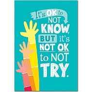 It'S Ok Not To Know... Inspire U Poster