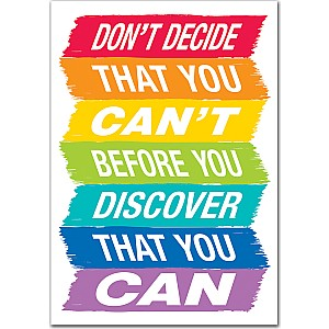 Don'T Decide That You Can'T... Inspire U Poster