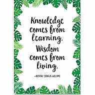 Knowledge Comes From Learning... (Pp) Inspire U Poster