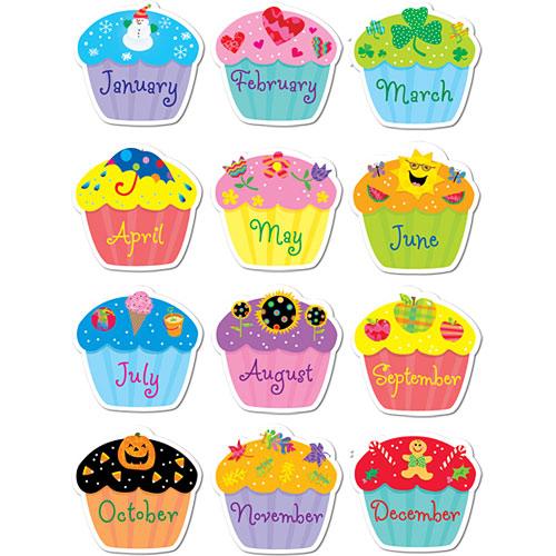 Poppin' Patterns Birthday Cupcakes Stickers - Kool & Child