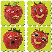 Photo Fruit Scratch 'n Sniff Stickers Strawberry