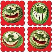 Photo Fruit Scratch 'n Sniff Stickers Watermelon