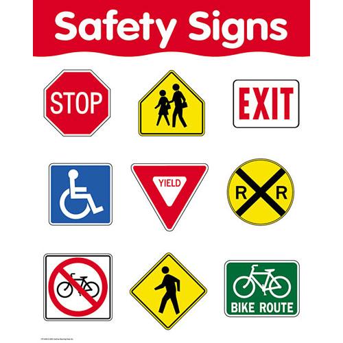 Safety Signs Basic Skills Chart - Kool & Child