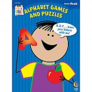 Alphabet Games and Puzzles Stick Kids Workbook, Grade Prek