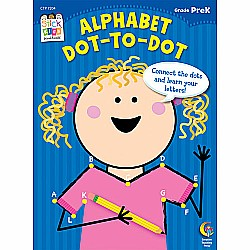 Alphabet: Dot-to-dot Stick Kids Workbook, Grade Prek