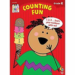 Counting Fun Stick Kids Workbook, Grade K