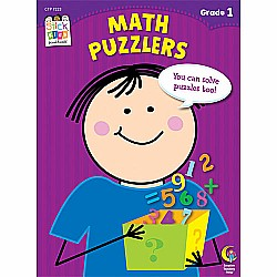 Math Puzzlers Stick Kids Workbook, Grade 1