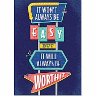 It Won'T Always Be Easy... Inspire U Poster (Mcm