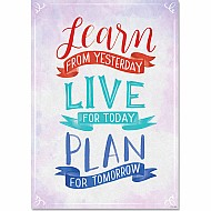 Learn, Live, Plan Inspire U Poster