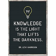 Knowledge Is The Light Inspire-U Poster