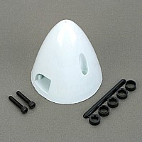 "2-1/2"" Spinner White (QTY/PKG: 1 )"