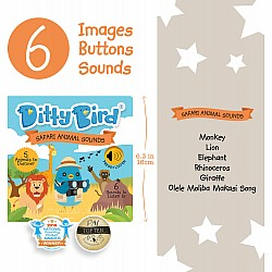 Ditty Bird Baby Sound Book: Safari Animal Sounds