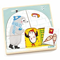 3 Layers Wooden Puzzles - Igloo