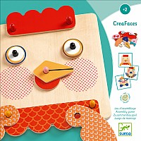 Djeco Creafaces Make-A-Face Wooden Board