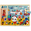 Djeco Puzzlo Airport Wooden Jigsaw Puzzle