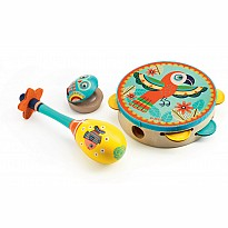 Animambo - Set Of 3 Instruments (Tambourine, Maracas, Castanet)