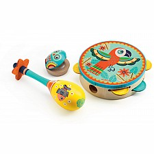 Animambo Set of 3 Instruments: Tambourine - Maracas - Castanet
