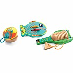 Animambo Set of 3 Percussions: Cymbal - Castanet - Guiro