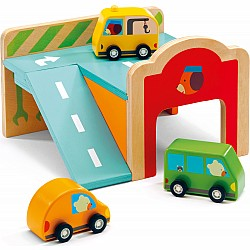 Djeco Minigarage Wooden Automobile Set