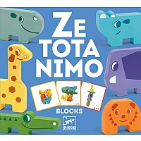 Djeco Ze Totanimo Wooden Animal Stacking Game
