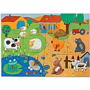 Giant Floor Puzzles Tactile Farm - 12pcs