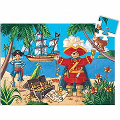 Silhouette Puzzle - The Pirate And His Treasure - 36pcs