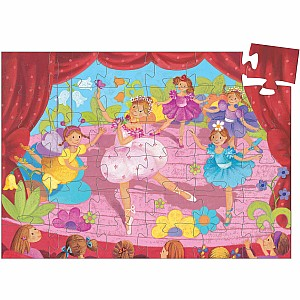 Silhouette Puzzles The Ballerina With The Flower - 36pcs