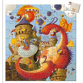 Silhouette Puzzles - Vaillant And The Dragon - 54pcs