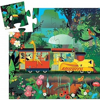 Silhouette Puzzles The Locomotive - 16pcs