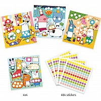 Djeco With Coloured Dots Sticker Collage Activity