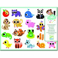 Djeco Stickers Baby Animals