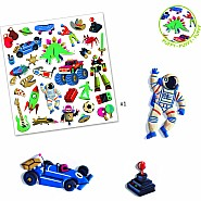 DJECO Stickers Retro Toys