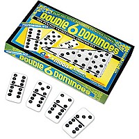Double 6 Professional Size Dominoes Black Dots
