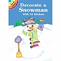 Decorate a Snowman with 35 Stickers